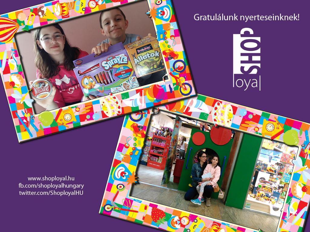 Shoployal Játéksziget Húsvét 2016 nyertesek